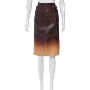 PRADA Ombré Leather Skirt